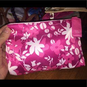 Estée Lauder Pink & White 💯 Polyester Makeup Bag